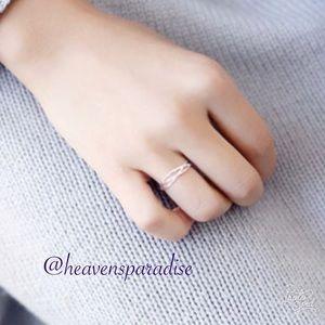 100% 925 Sterling Silver Line Winding Shape Rings